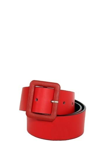 Collezione Kırmızı Kare Tokalı Kadın Kemer Kırmızı